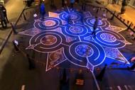 Tape Art Labyrinth.
