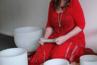 Sunset Sacred Sounds with Crystal Singing Bowls.