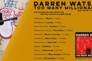 Darren Watson | Too Many Millionaires LP Release NZ Tour.