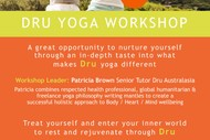 Dru Yoga Workshop.