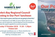 Hawke's Bay Regional Council 'Investing In Our Port' Lunch.