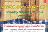 Fabric and Craft Sale.