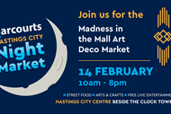 Harcourts Hastings City Madness in the Mall Art Deco Market.