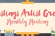 Hastings Artist Group Monthly Meeting.
