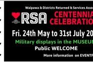 Waipawa & Districts RSA Centennial Celebration.